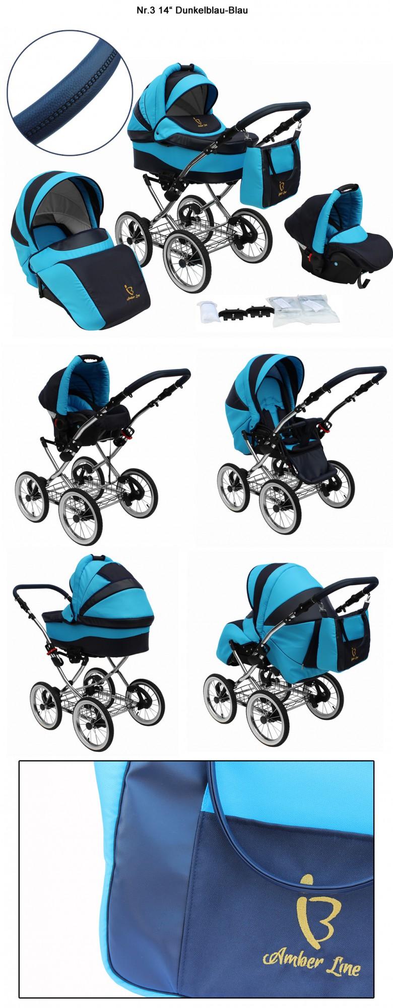 amber line kombikinderwagen 3in1 babyschale f r isofix kinderwagen mit leder ebay. Black Bedroom Furniture Sets. Home Design Ideas