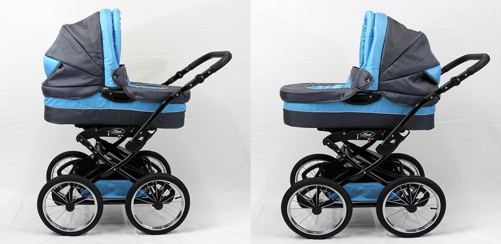 polaris retro 3in1 kinderwagen mit babyschale und 14. Black Bedroom Furniture Sets. Home Design Ideas