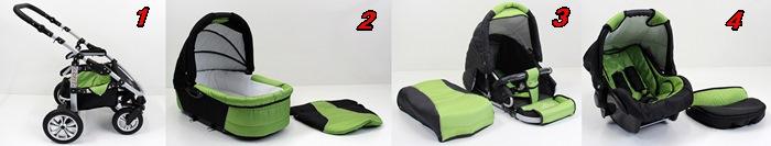 saturn kinderwagen kombikinderwagen 3in1 babyschale. Black Bedroom Furniture Sets. Home Design Ideas