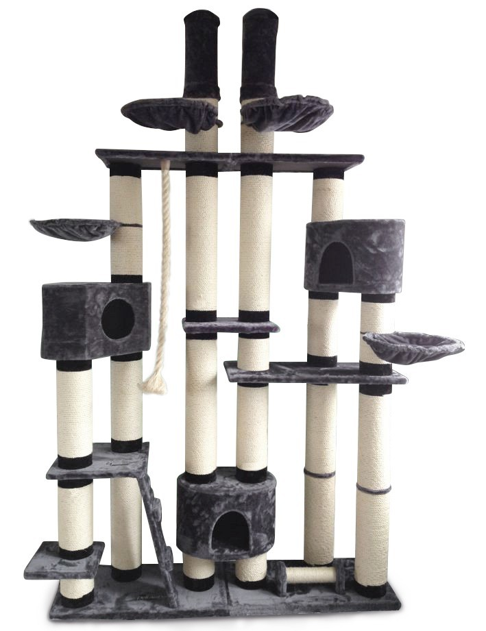 kratzbaum new york extra stabil deckenhoch 14cm dicke s ulen katzenkratzbaum ebay. Black Bedroom Furniture Sets. Home Design Ideas