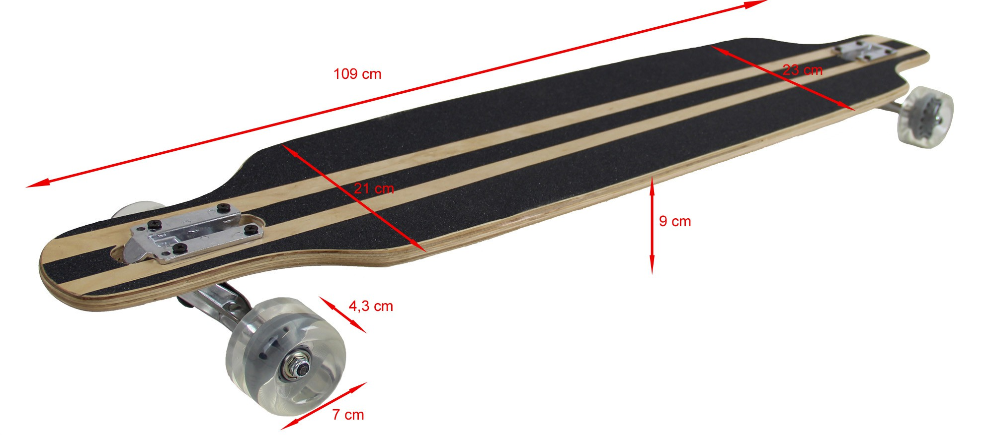 longboard 43 long board skateboard streetsurfer. Black Bedroom Furniture Sets. Home Design Ideas