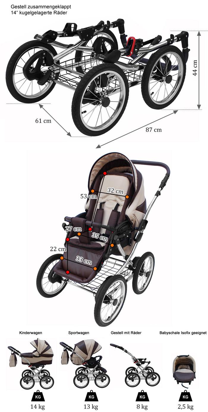 amber line kombikinderwagen 3in1 babyschale f r isofix. Black Bedroom Furniture Sets. Home Design Ideas