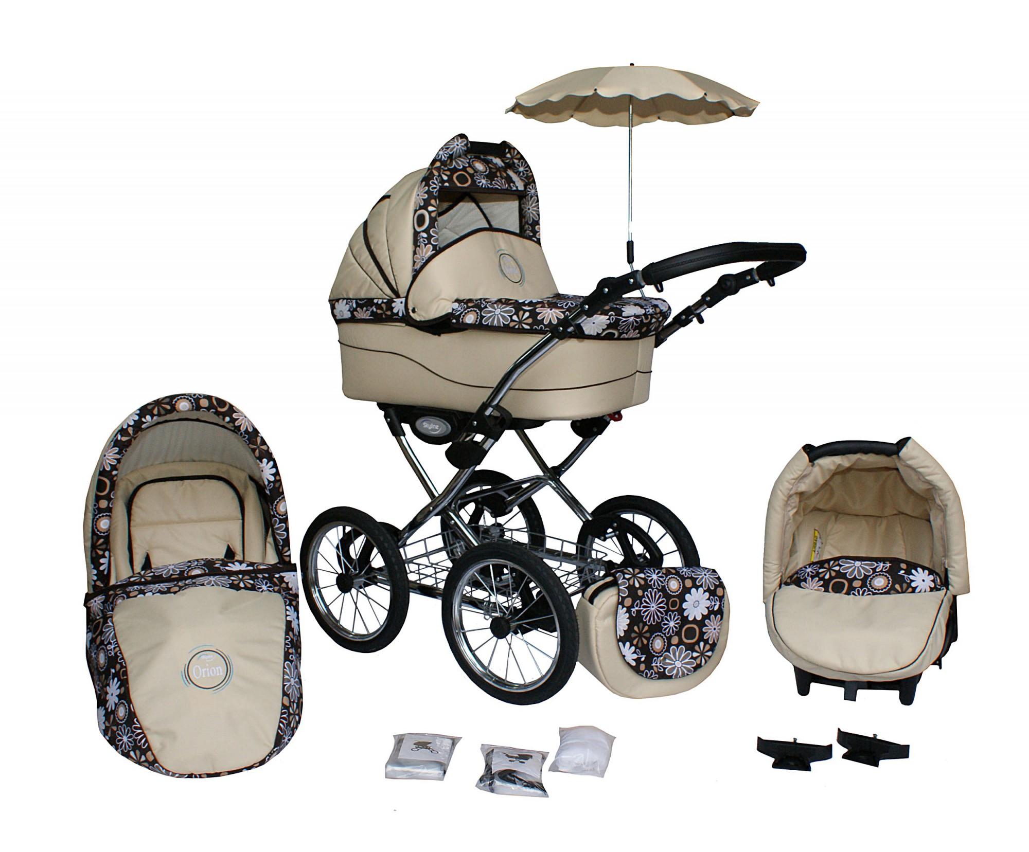 orion kombi kinderwagen sportwagen mit babyschale isofix geeignet und sonnenschirm. Black Bedroom Furniture Sets. Home Design Ideas