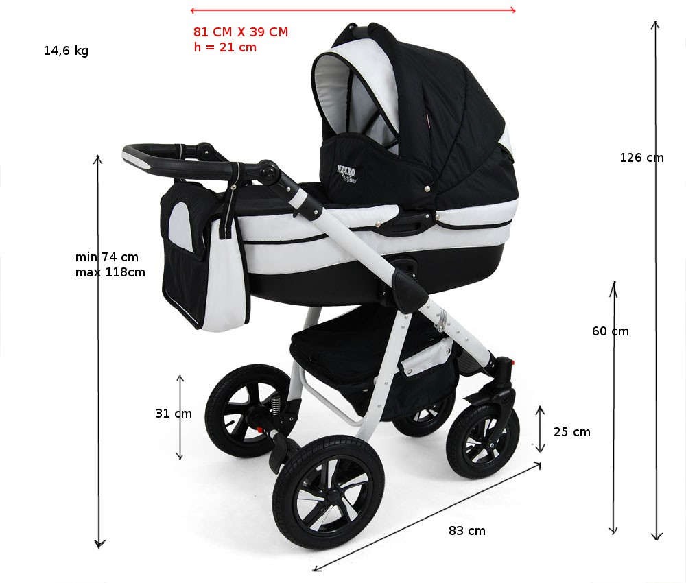 nexxo kombikinderwagen 3in1 mit kunststoffschale und babyschale f r isofix ebay. Black Bedroom Furniture Sets. Home Design Ideas